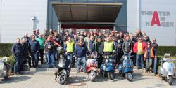 Anrollern Vespafreunde Straubing 2017
